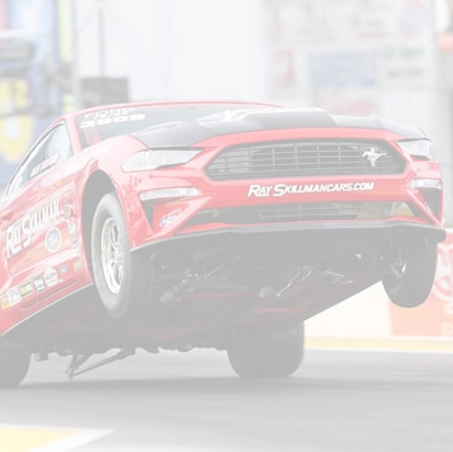 OPTIMA Sponsored Ford Mustang on two wheels